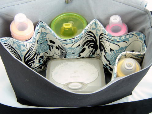 Diaper bag with baby basics