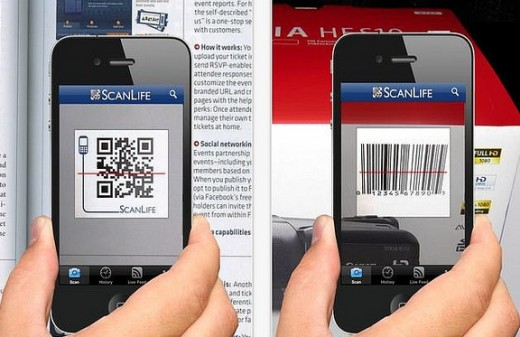 What phones can scan a QR code? What desktop options are available?