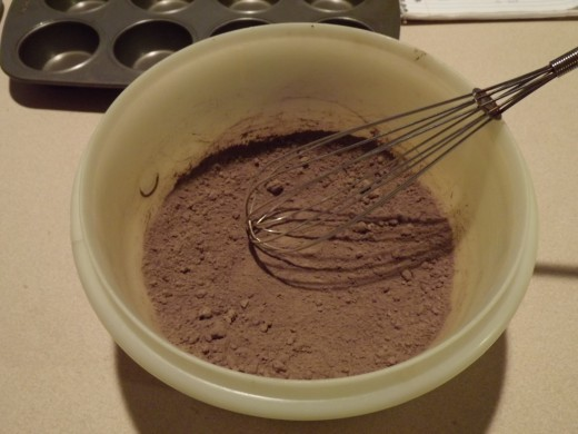 Mixed dry ingredients.