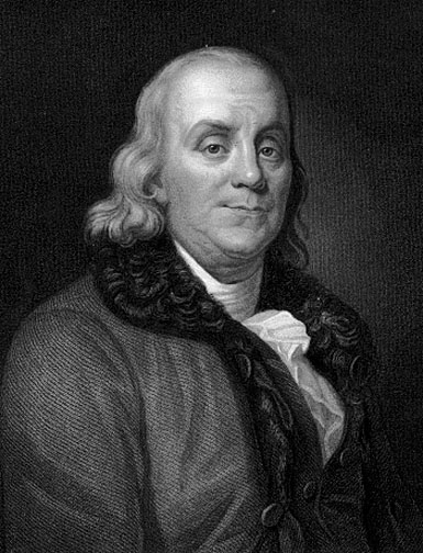 Hippie freakin' drug user Franklin ruined America with ideas about thrift and hard work