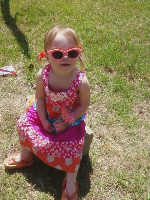 Brooklynn loves her baby sunglasses.