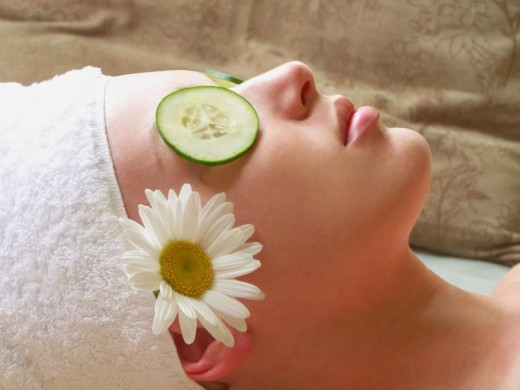 A cucumber facial