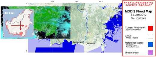 NASA images and google earth clearly showing flooding in Vietnam.
