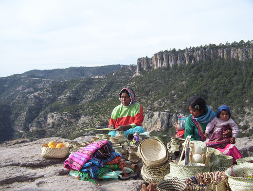 Tarahumara women in their native lands.