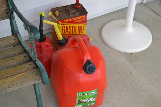 Store gasoline away from the generator