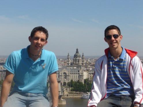 Jon and I in Budapest, Hungary
