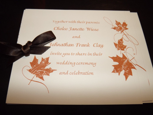 Our simple yet cute wedding invitations.