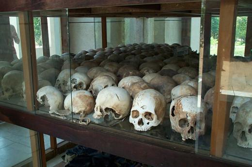 The Choeng Ek killing fields,1979. Atrocities from the Khmar Rouge.
