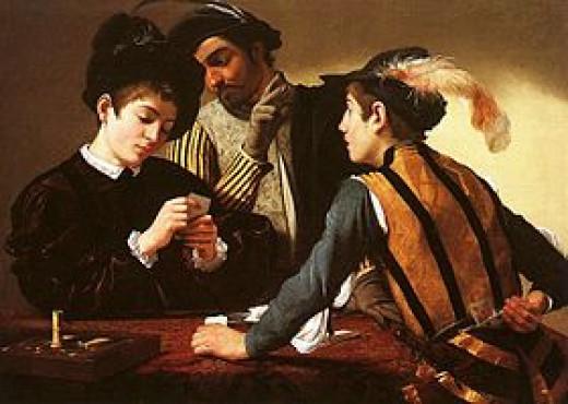 Caravaggio, The Cardsharps, c. 1594