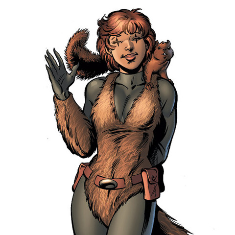 It's Squirrel Girl. Don't expect to see a Squirrel Girl movie anytime soon.