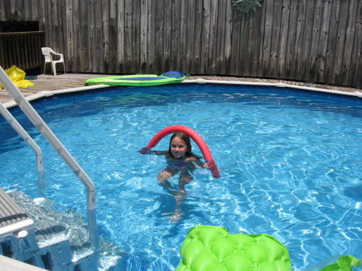 Provide pool toys and floats.