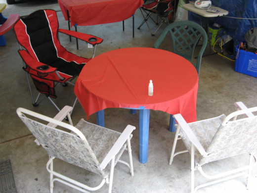 Provide some seating in the shade.