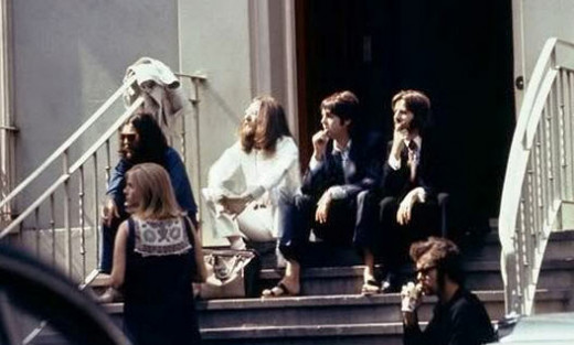 Outside Abbey Road 1969