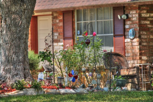 A typical front yard in San Antonio.