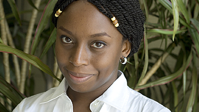 Chimamanda and her braids