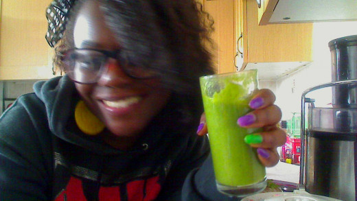 Me with my green smoothie