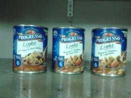 Soup cans at my job.