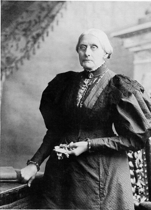 Susan B. Anthony - One powerful Civil Rights Leader (February 15, 1820 – March 13, 1906) She co-founded the first ever woman temperance movement, and got the Woman's right's movement off to its start, changing the world's view and treatment of women