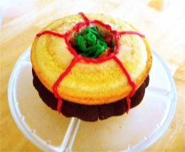 Chocolate and Vanilla strawberry filled bundt and round cake