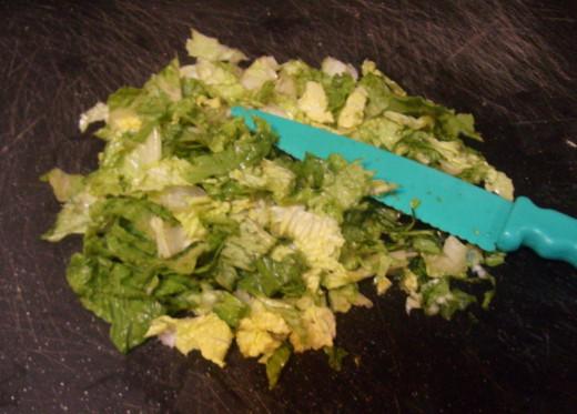 Chop lots of lettuce!