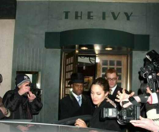 Angelina Jolie at The Ivy