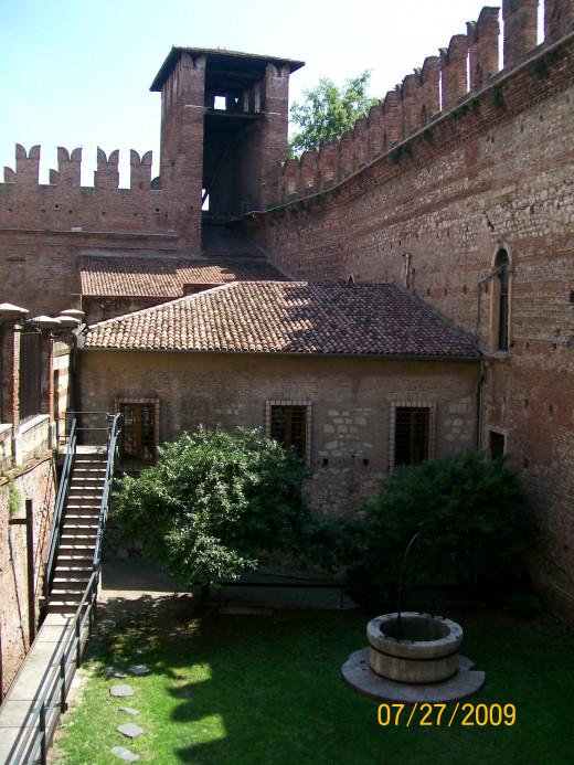 Part of a courtyard inside Castelvecchio