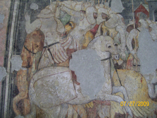 """""""Battle of the Knights"""" in the Museum inside Castelvecchio"""