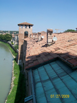 The roof of Castelvecchio
