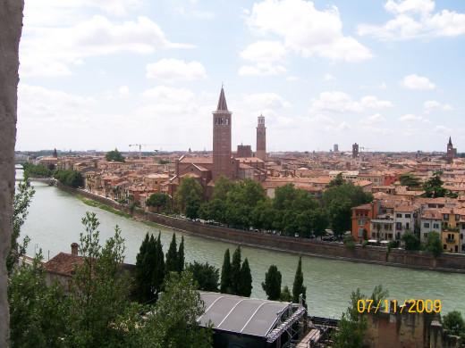 Overlooking the city of Love (Verona)