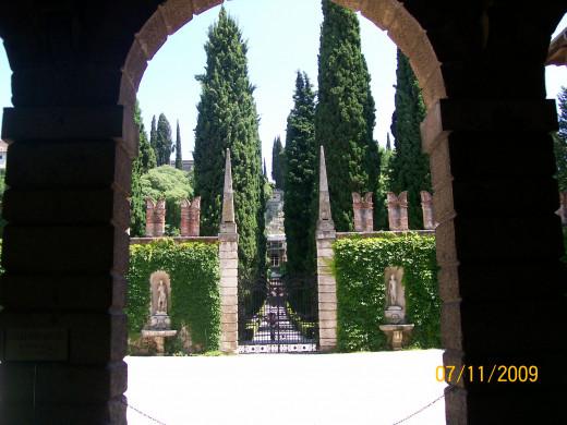 The entrance into the gardens