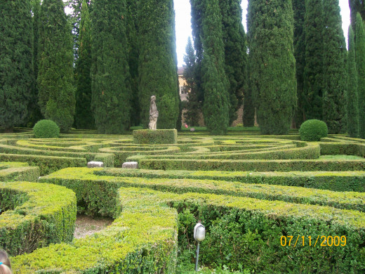 The whole garden was set up like a maze