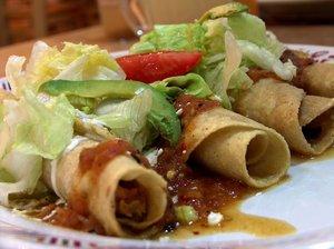 Chicken roll up tacos