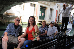 My Mom, Dad, Husband and I on the Gondola.