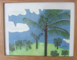 How To Draw A Hawaiian Palm Tree Scene On Graph Paper