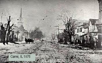 Carmi, Illinois in 1875
