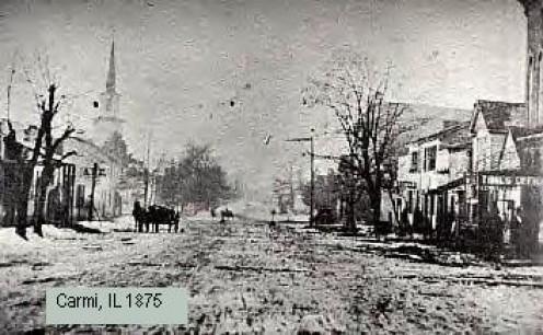 Carmi, Illinois in 1875