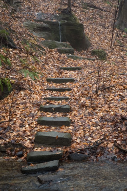 Stepping stones in life lead us, one step at a time, to the destination we seek.