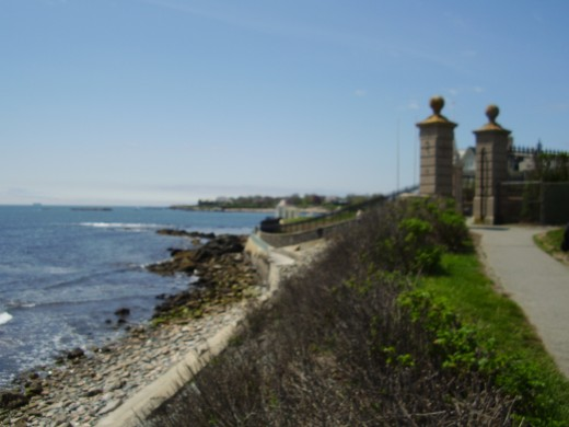 If you live in Newport, R. I. you can walk the Cliff Walk, which runs behind the historic Newport mansions, for free.