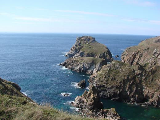 The Finistère coast.