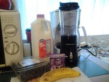 My choices for my smoothie today.