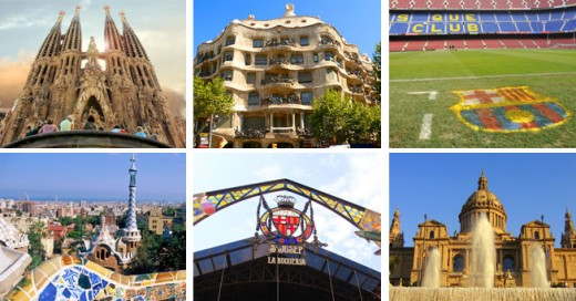 Unmissable attractions in Barcelona