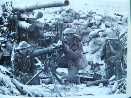 6 th Brigade in captured shell hole.