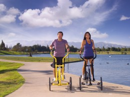 Exercising outdoors can give you a boost of sunshine as well as a workout.