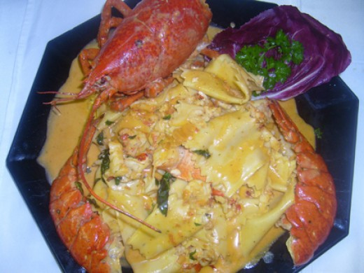 Pappardelle with lobster
