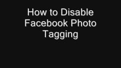 How to Disable Facebook Photo Tagging
