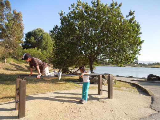 Kids Exercising at Lake Cunningham Park