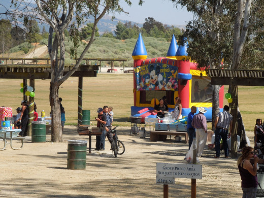 People Having A Birthday Party at Lake Cunningham Park