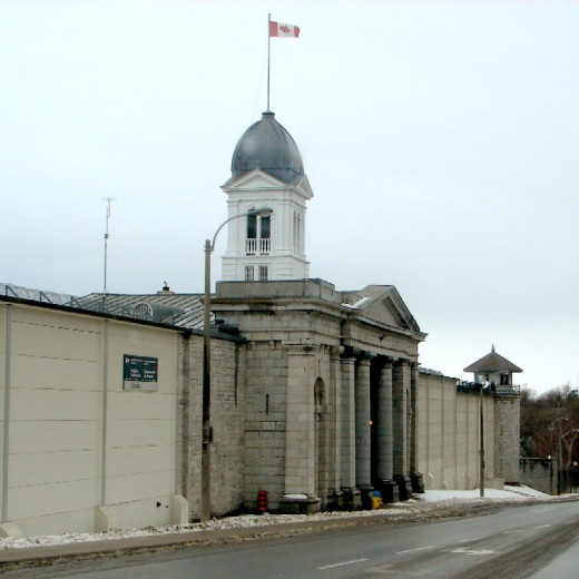 Front entrance Kingston Penitentiary in Kingston, Ontario, Canada