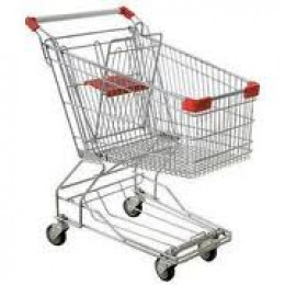Sanitize the shopping cart area for resting your purse