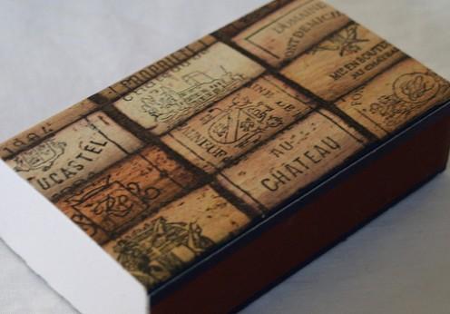 Decorated matchbox.
